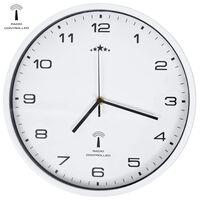 vidaXL Funkwanduhr mit Quarzwerk 31 cm Weiß