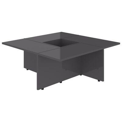 vidaXL Couchtisch Hochglanz-Grau 79,5x79,5x30 cm Spanplatte