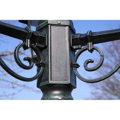 vidaXL Gartenlaterne 3-flammig 215 cm Dunkelgrün/Schwarz Aluminium