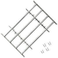 vidaXL Fenstergitter Verstellbar mit 4 Querstäben 1000-1500 mm
