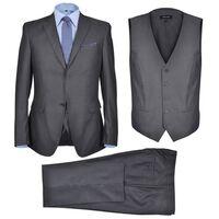 Business Anzug für Herren 3-teilig Grau Gr. 50