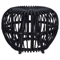 Home&Styling Kubu-Hocker Brussel Rattan Schwarz