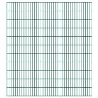 vidaXL 2D Gartenzaun-Elemente 2,008x2,23 m Gesamtlänge 6 m Grün