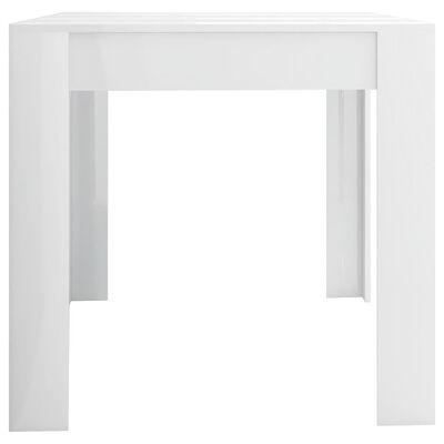 vidaXL Esstisch Hochglanz-Weiß 160x80x76 cm Spanplatte