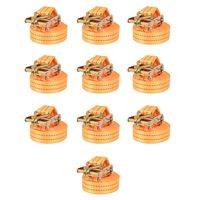 vidaXL Ratschen-Spanngurte 10 Stk. 1 Tonne 6m×38mm Orange