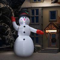 vidaXL Aufblasbarer Schneemann mit LEDs Weihnachtsdeko IP44 300 cm