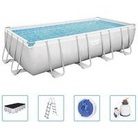 Bestway Power Steel Swimmingpool-Set Rechteckig 549x274x122 cm