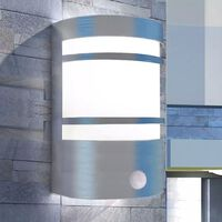 vidaXL Außenwandlampe mit Sensor Edelstahl