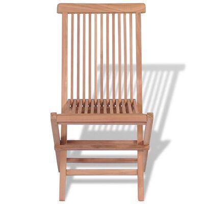 vidaXL Klappbare Gartenstühle 4 Stk. Massivholz Teak