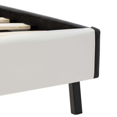 vidaXL Bett mit Memory-Schaum-Matratze Kunstleder 120×200cm