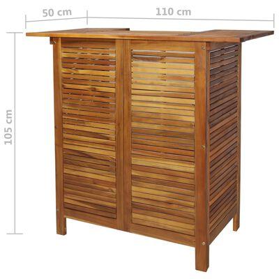 vidaXL Stehtisch 110x50x105 cm Akazienholz Massiv