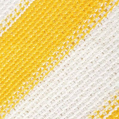 vidaXL Balkonschirm HDPE 90 x 600 cm Gelb und Weiß