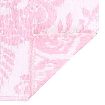 vidaXL Outdoor-Teppich Rosa 160x230 cm PP