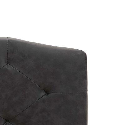 vidaXL Bett mit Matratze Schwarz Stoff 180 x 200 cm