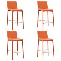 vidaXL Barhocker 4 Stk. Orange Kunstleder