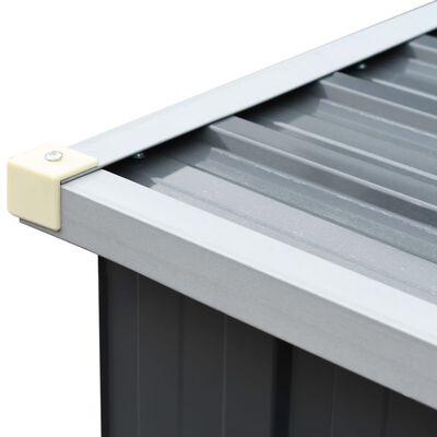 vidaXL Brennholzlager aus verzinktem Stahl 330x84x152 cm Grau