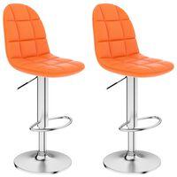 vidaXL Barhocker 2 Stk. Orange Kunstleder