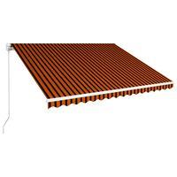 vidaXL Einziehbare Markise Handbetrieben 450 x 300 cm Orange und Braun