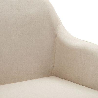vidaXL Esszimmerstühle Drehbar 4 Stk. Cremeweiß Stoff