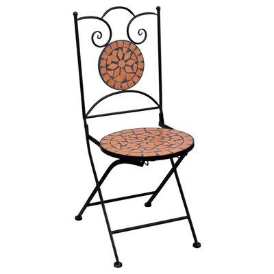 vidaXL 3-tlg. Bistro-Set Mosaik Keramik Terrakotta