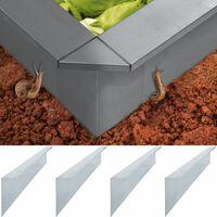 vidaXL Schneckenbleche 4 Stk. Verzinkter Stahl 150 x 7 x 25 cm 0,7 mm