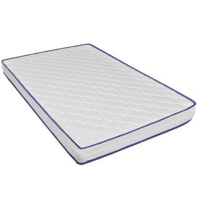 vidaXL Bett mit Memory-Schaum-Matratze Taupe Stoff 140×200 cm