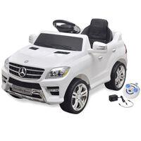 Elektroauto Ride-on Mercedes Benz ML350 Weiß 6 V mit Fernbedienung