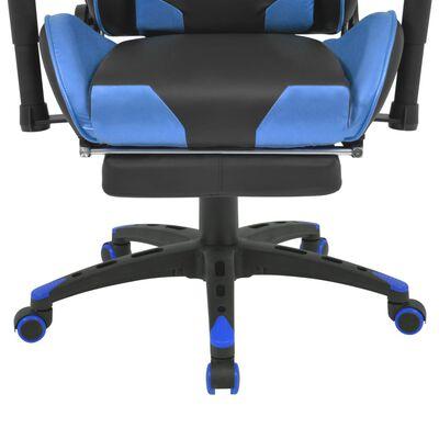 vidaXL Bürostuhl Gaming-Stuhl Neigbar mit Fußstütze Blau