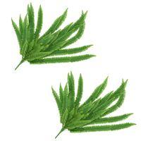 vidaXL Künstliche Blätter Farnpflanze 2 Stk. Grün 120 cm