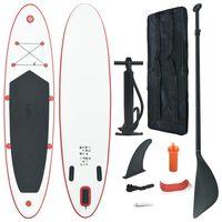 vidaXL Stand Up Paddle Board SUP Aufblasbar Rot und Weiß