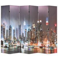vidaXL Raumteiler klappbar 228 x 170 cm New York bei Nacht