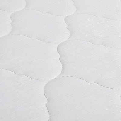 vidaXL Bett mit Memory-Schaum-Matratze Grau Kunstleder 160x200cm