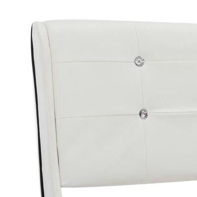 vidaXL Bett mit Matratze Weiß Kunstleder 140 x 200 cm