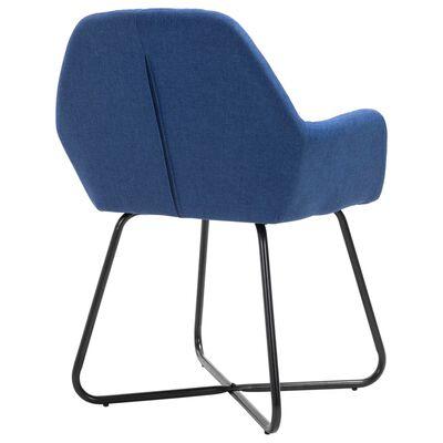 vidaXL Esszimmerstühle 6 Stk. Blau Stoff
