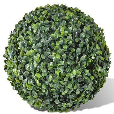 vidaXL Buchsbaumkugeln 2 Stk. Künstlich Formschnitt-Kugel 35 cm