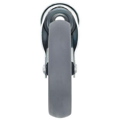 vidaXL 16 Stk. Lenkrollen mit Bolzenloch 125 mm