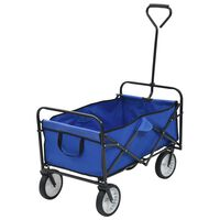 vidaXL Klappbarer Handwagen Stahl Blau
