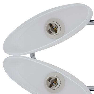 vidaXL Deckenlampe mit ellipsenförmigen Glasschirmen 2 Stk. E14
