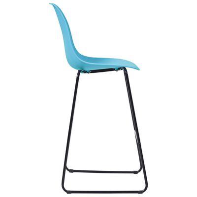 vidaXL 3-tlg. Bar-Set Kunststoff Blau