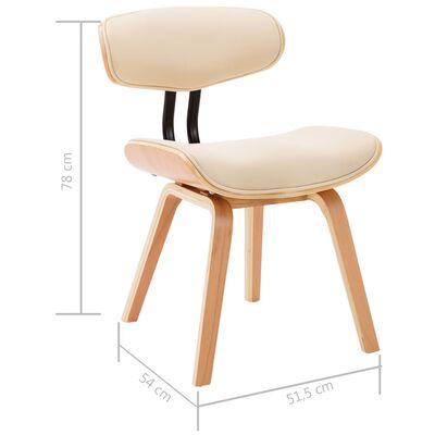 vidaXL Esszimmerstühle 6 Stk. Creme Bugholz und Kunstleder