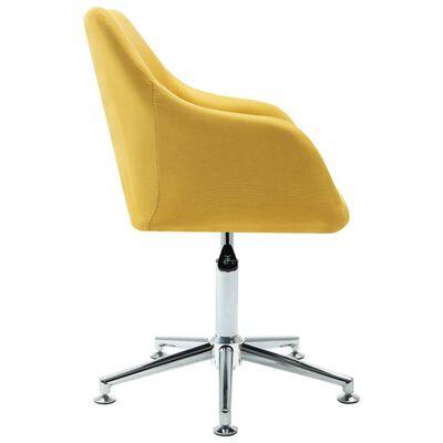 vidaXL Esszimmerstühle Drehbar 6 Stk. Gelb Stoff