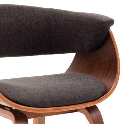 vidaXL Esszimmerstühle 4 Stk. Grau Bugholz und Stoff