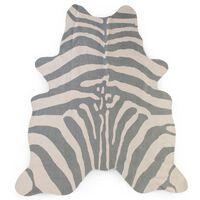 CHILDHOME Kinderteppich 145×160 cm Zebra Grau