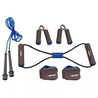 Avento Fitness-Set grau/kobaltblau/schwarz 41VE