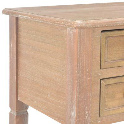 vidaXL Schreibtisch Braun 109,5 x 45 x 77,5 cm Holz