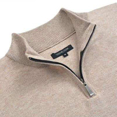 vidaXL 5 Stk. Herren Pullover Sweaters mit Reißverschluss Beige M