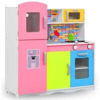 vidaXL Kinderspielküche MDF 80 x 30 x 85 cm Mehrfarbig