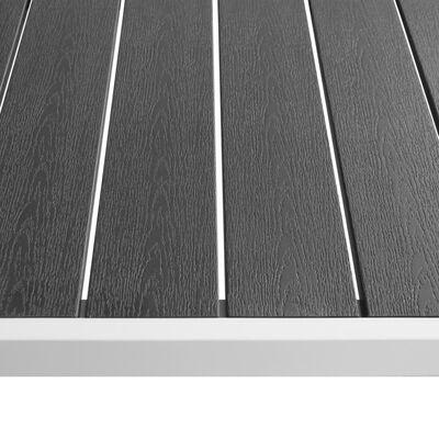 vidaXL 7-tlg. Garten-Essgruppe mit WPC-Tischplatte Aluminium Schwarz