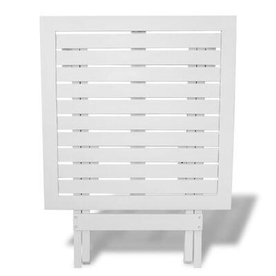 vidaXL Bistrotisch Weiß 46x46x47 cm Akazie Massivholz