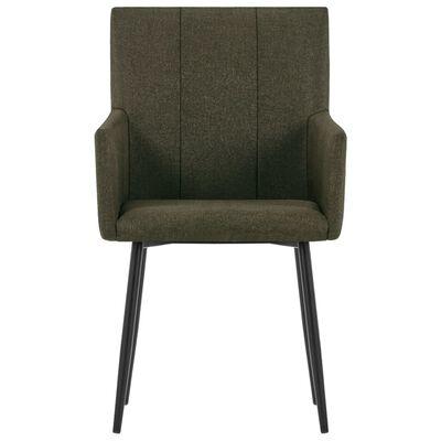 vidaXL Esszimmerstühle mit Armlehnen 4 Stk. Braun Stoff